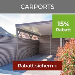 15% Rabatt auf Carports