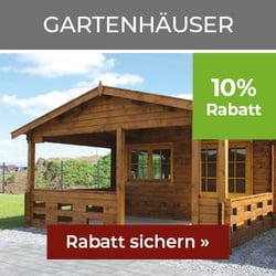 10% Rabatt auf Gartenhäuser