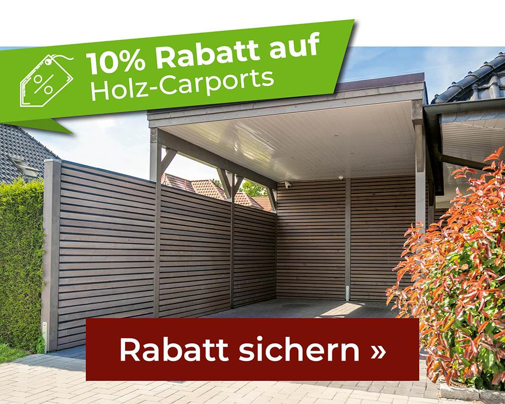 10% Rabatt auf Holz-Carports
